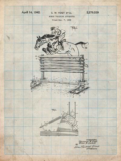 Equestrian Training Oxer Patent-Cole Borders-Art Print
