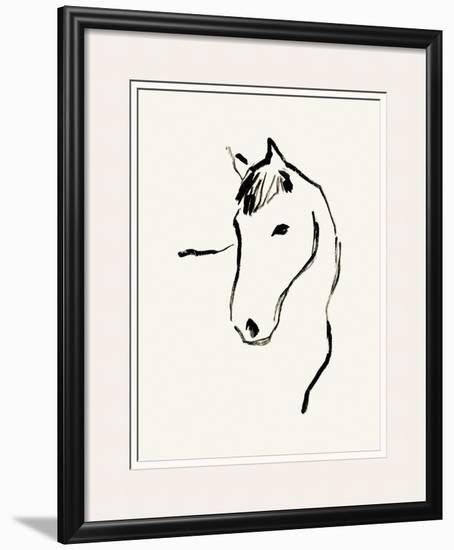 Equine Lines-Kristine Hegre-Framed Giclee Print