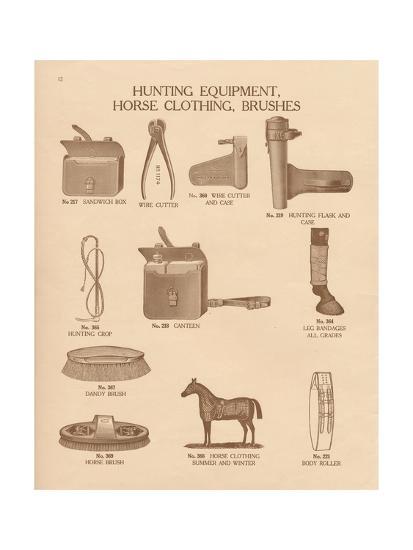 Equine Riding Gear IV-Wild Apple Portfolio-Art Print