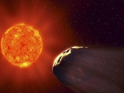 Vulcanoid Asteroid And Sun, Artwork by Equinox Graphics
