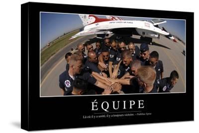 Équipe: Citation Et Affiche D'Inspiration Et Motivation