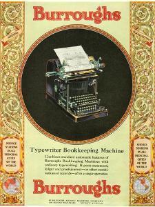 Equipment Burroughs, Adding Machines, Accountants, USA, 1920