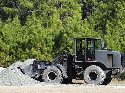 Equipment Operator Gathers a Load of Gravel On Camp Johnson-Stocktrek Images-Photographic Print