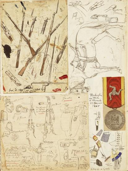 Equipment, Weapons and Harness Used by Thousand of Garibaldi--Giclee Print