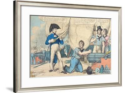 Equity or a Sailor's Prayer before Battle, Published by Thomas Tegg--Framed Giclee Print