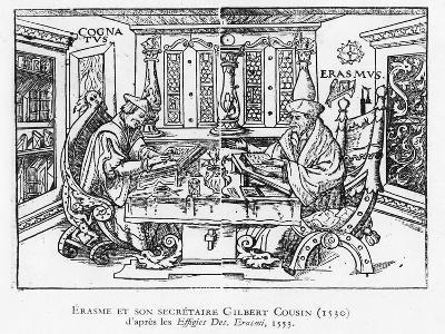 Erasmus and His Secretary Gilbert Cousin--Giclee Print