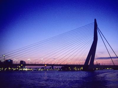 Erasmus Bridge, Erasmusbrug, Rotterdam-Barry Winiker-Photographic Print