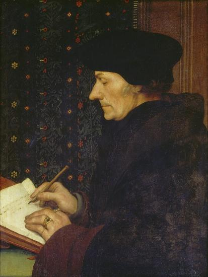 Erasmus of Rotterdam, 1523-Hans Holbein the Younger-Giclee Print