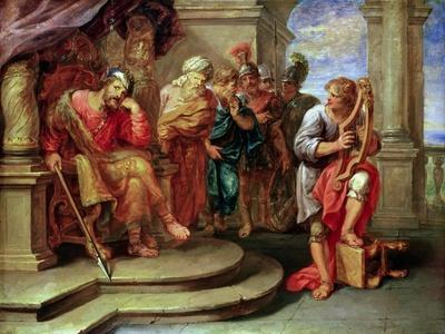 Saul Listening to David Playing the Harp
