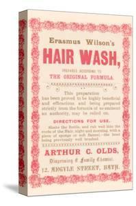 Erasmus Wilson's Hair Wash