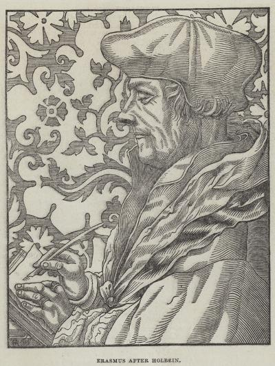 Erasmus-Hans Holbein the Younger-Giclee Print