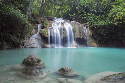 Erawan Falls, Kanchanaburi, Thailand, Southeast Asia, Asia-Alex Robinson-Photographic Print