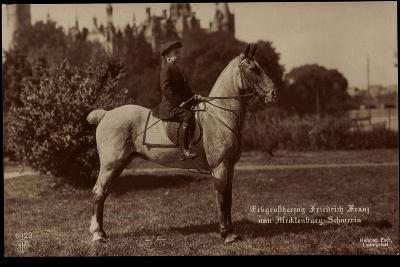 Erbgroßherzog Friedrich Franz Von Mecklenburg Schwerin, Npg 6423, Pferd--Giclee Print