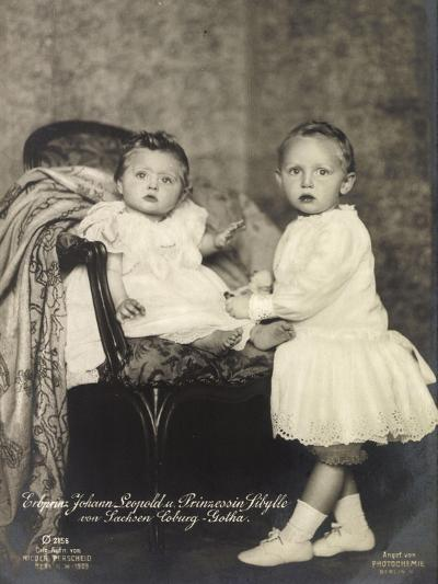 Erbprinz Johann Leopold, Prinzessin Sibylle, Coburg--Giclee Print