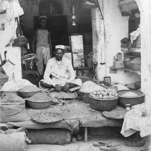 A Shop in India, 1900s by Erdmann & Schanz