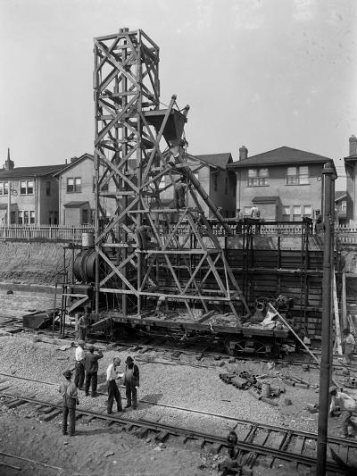 Erecting a Concrete Mixer at 1910 63rd Street, Brooklyn, C.1914-William Davis Hassler-Photographic Print