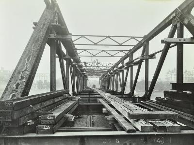 Erection of Emergency Thames Bridge, London, 1942--Photographic Print