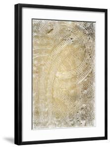 Gold Foil Wave Scroll II by Erek Jones