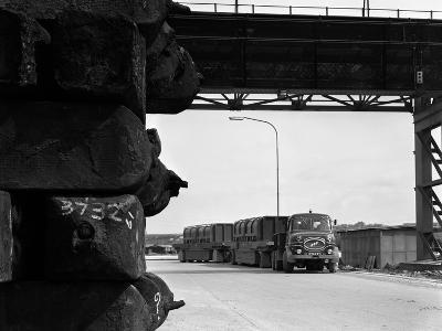 Erf 66Gsf Tipper Pulling a Hot Ingot Transporter, Rotherham, South Yorkshire, 1963-Michael Walters-Photographic Print