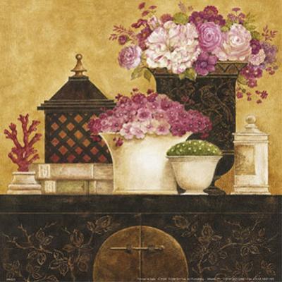 Still Life, Flowers on Antique Chest I