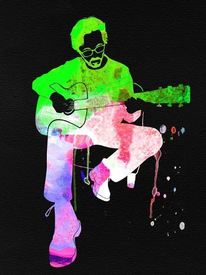 Eric Clapton Stone Watercolor-Lana Feldman-Art Print