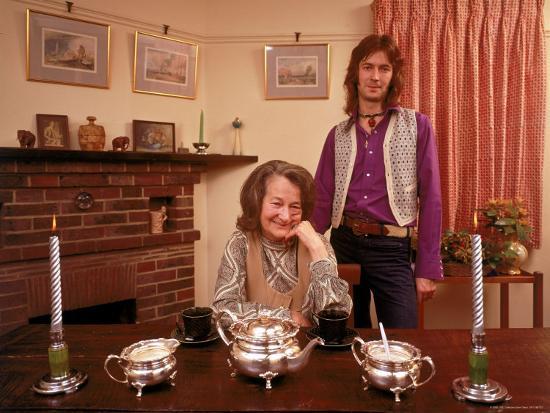 Eric Clapton with His Grandmother Rose Clapp-John Olson-Premium Photographic Print