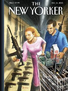 The New Yorker Cover - December 14, 2015 by Eric Drooker
