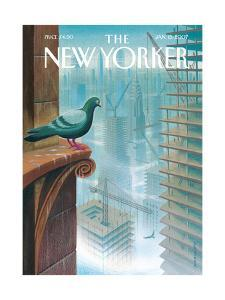 The New Yorker Cover - January 15, 2007 by Eric Drooker