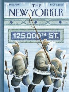 The New Yorker Cover - March 6, 2006 by Eric Drooker