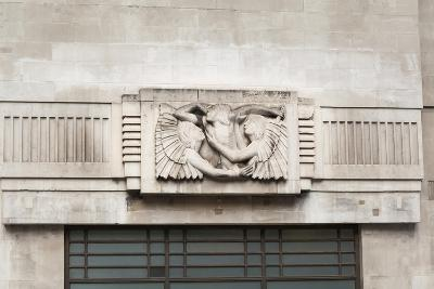 Eric Gill Relief Sculpture on the Outside of BBC Broadcasting House in Portland Place, London, UK--Giclee Print