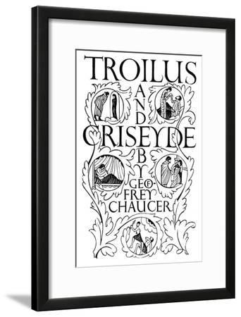Title Page: Troilus and Criseyde, 1927