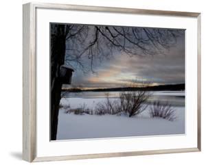Birdhouse at Sunset by West Lake, Danbury, Connecticut by Eric Gottschalk