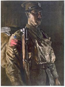 The Rifle Brigade, from British Artists at the Front, Continuation of the Western Front, Part… by Eric Henri Kennington