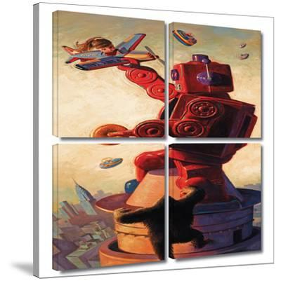 Robokong 4 piece gallery-wrapped canvas