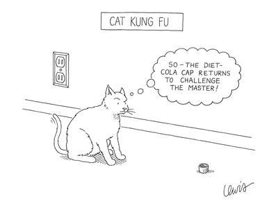 """Cat Kung Fu"" - New Yorker Cartoon"