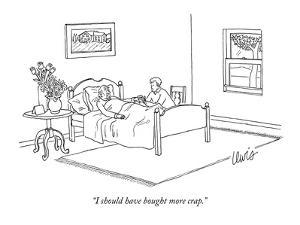 """I should have bought more crap."" - New Yorker Cartoon by Eric Lewis"