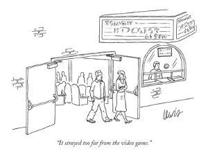 """""""It strayed too far from the video game."""" - New Yorker Cartoon by Eric Lewis"""