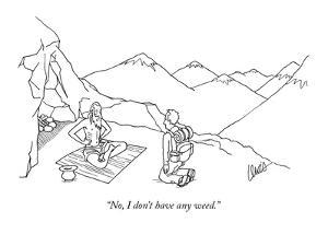 """""""No, I don't have any weed."""" - New Yorker Cartoon by Eric Lewis"""