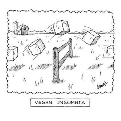 """Vegan Insomnia"" - New Yorker Cartoon by Eric Lewis"