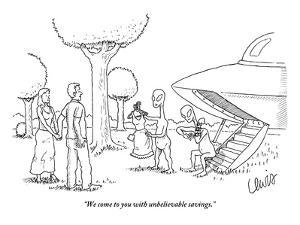 """""""We come to you with unbelievable savings."""" - New Yorker Cartoon by Eric Lewis"""