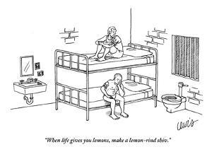 """""""When life gives you lemons, make a lemon-rind shiv."""" - New Yorker Cartoon by Eric Lewis"""