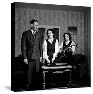 Country and Western Music Carter Family A.P. Carter, Wife Sara and Sister in Law Maybelle Carter by Eric Schaal