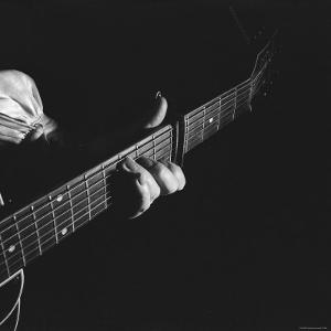 Hands of Maybelle Carter Millard of the Legendary Carter Family Musicians, Fingering a Guitar by Eric Schaal