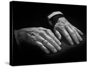 Hands of Russian Piano Virtuoso Sergei Rachmaninoff, with Wedding Ring on Right Hand by Eric Schaal