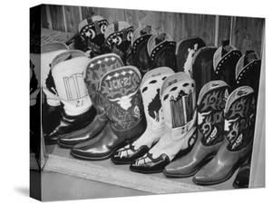 Several Pairs of Cowboy Boots from the 21 Club's Jack Kriendler's Collection by Eric Schaal