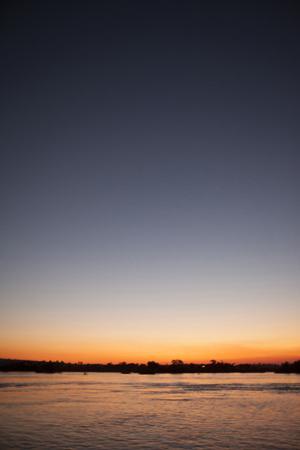 The Zambezi River at Dusk