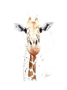 Giraffe Watercolor by Eric Sweet