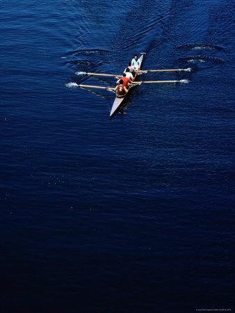 Four Man Racing Boat on Rio Valdivia, Valdivia, Los Lagos, Chile