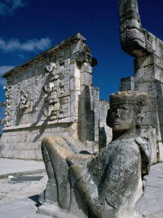 Mayan Ruins at Chichen Itza Site, Chichen Itza, Yucatan, Mexico