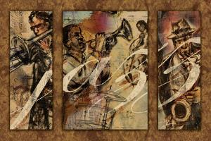 Jazz - Triptych by Eric Yang